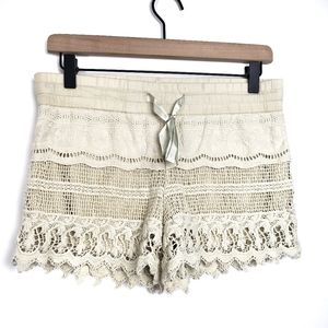 ●No Boundaries Crochet Shorts